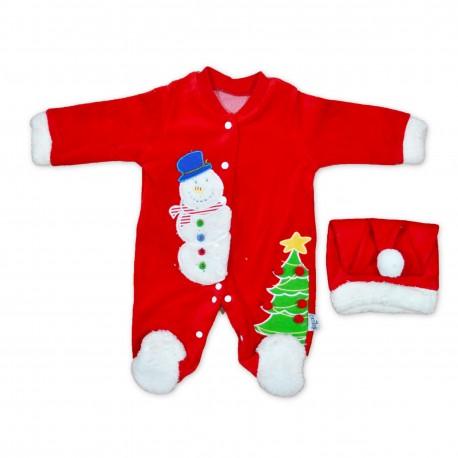 Costum de Mos Craciun (tip salopeta) pentru baieti B01