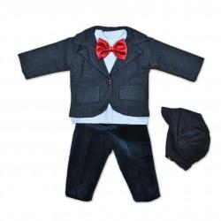 Costum flausat baieti bebe 5 piese B37