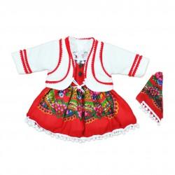 Costum popular fete cu haina botez F14