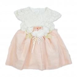 Rochita roz pudra eleganta copii F31