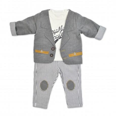 Costum casual bebe 3 piese B41
