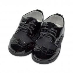 Pantofi de lac baieti botez B25