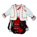 Costum popular fete botez F02
