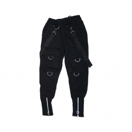 Pantaloni fashion cu bretele - U16