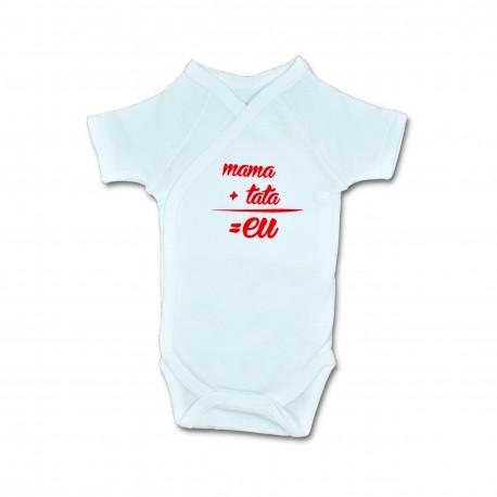 Body bebe unisex cu mesaj U01