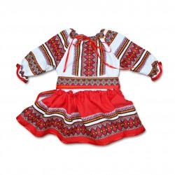 Costum popular fete botez F06