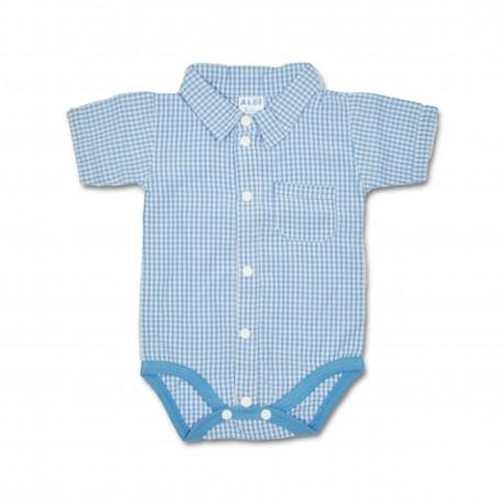 Body bebe (baieti) tip camasa B08