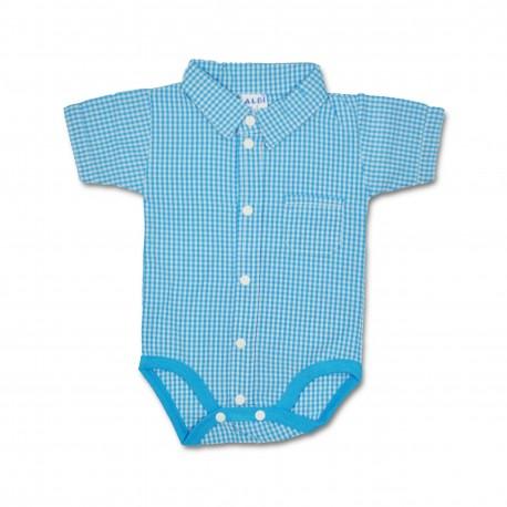 Body bebe (baieti) tip camasa B09