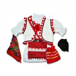 Costum popular fete botez F09